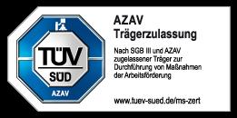 TÜV Plakette: Diversicon ist zertifizierter Bildungsträger nach AZAV